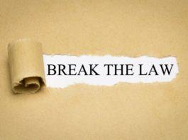 Leene Soekov, break he law sign