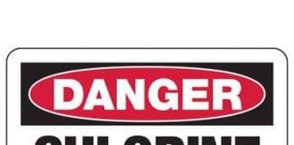Chlorine gas poisoning sign