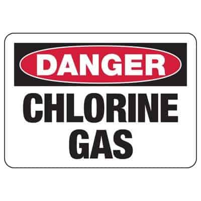 Chlorine gas poisoning sign