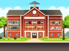 illustration of European schools