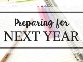 text preparing for a next school year