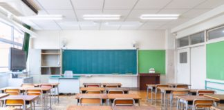 When will school open, picture of an empty classroom